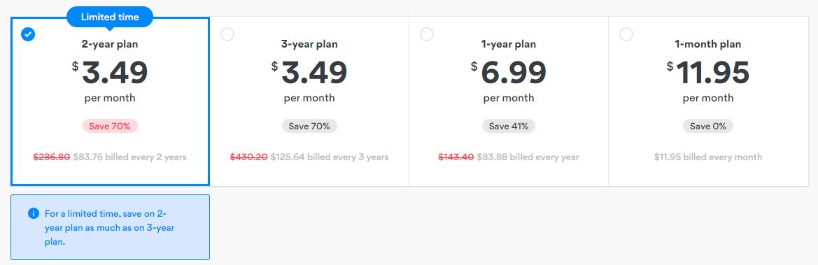 NordVPN price plan