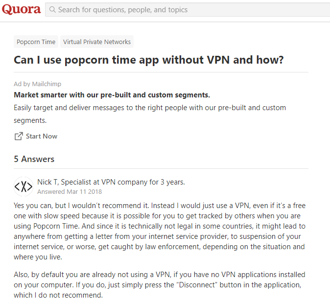 Quora Popcorn Time Without VPN