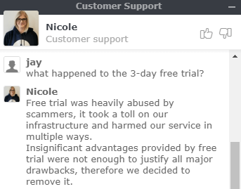 3 day free trial