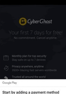 7 day free trial Android