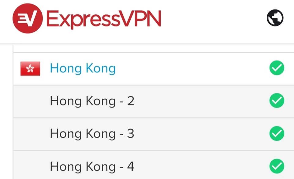 ExpressVPN servers for Hong Kong