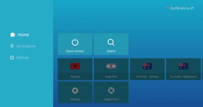 Using the Surfshark app on Firestick step 2