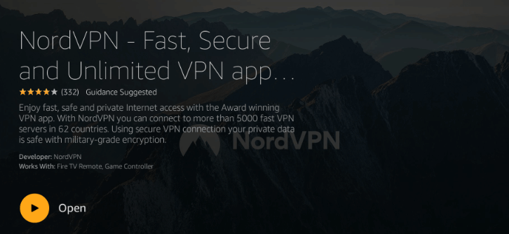 installing NordVPN on Firestick step 3