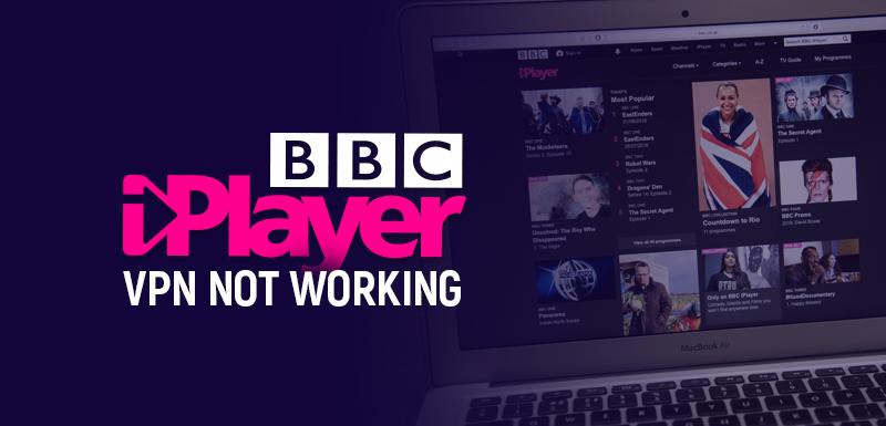 BBC iPlayer VPN not working