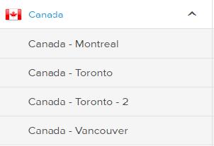 ExpressVPN servers Canada