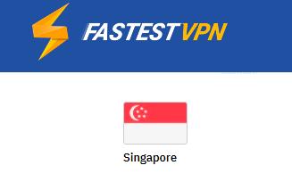 FastestVPN server Singapore