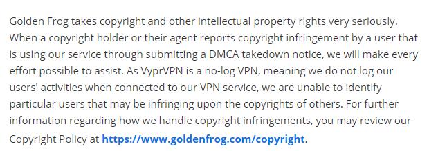 How VyprVPN tackles DMCA notices