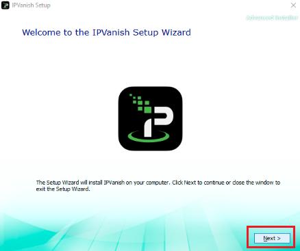 IPVanish Setup Wizard
