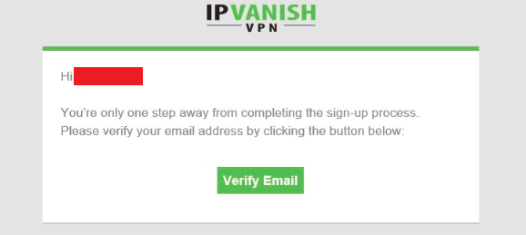IPVanish email verification