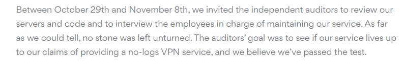 NordVPN Audit blog
