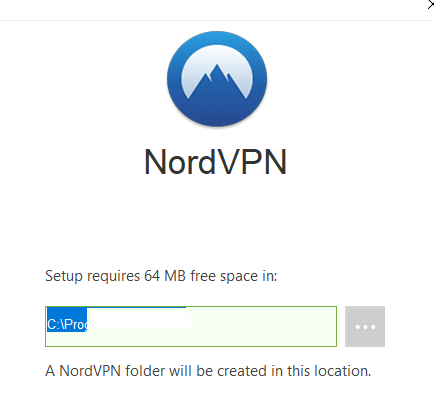 NordVPN set up completion