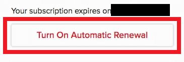 Re-confirm auto renewal cancellation