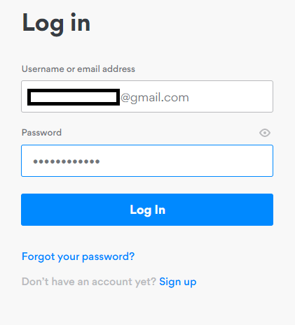 Sign in to NordVPN account