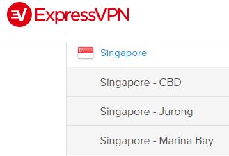 Singaporean servers ExpressVPN