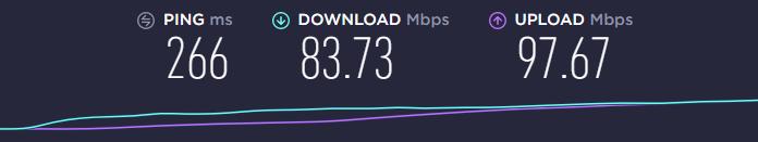 UK server ExpressVPN speed test