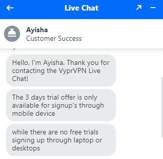 VyprVPN free trial for mobile apps