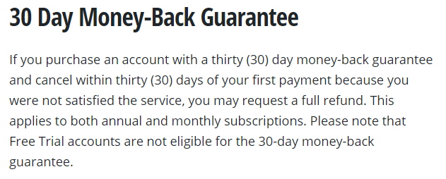 The VyprVPN 30-day refund policy