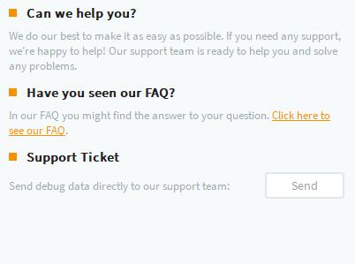 Customer support on Goose VPN app