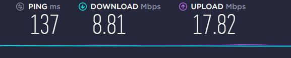 speed test German server Goose VPN