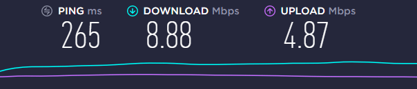 speed test UK server Goose VPN