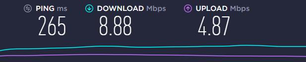 speed test US server Goose VPN