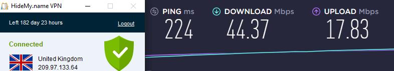Speed test UK server
