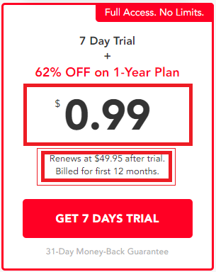 PureVPN free trial and yearly package