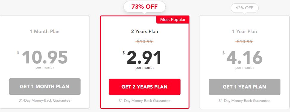 PureVPN prices