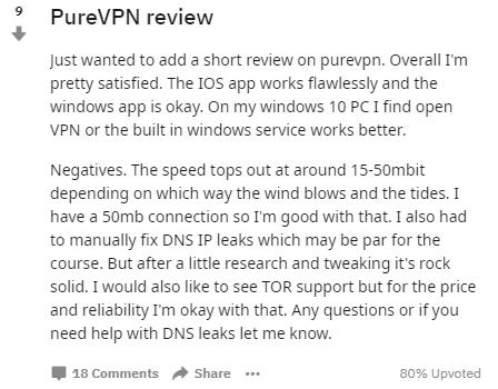 PureVPN reddit