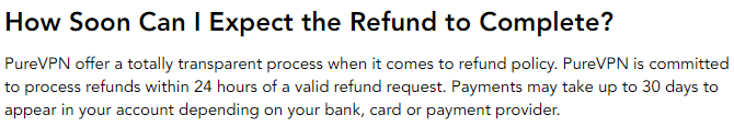 PureVPN refund