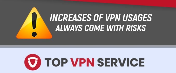 Increase of VPN usage always comes with risks