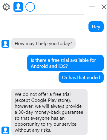 NordVPN free trial support chat