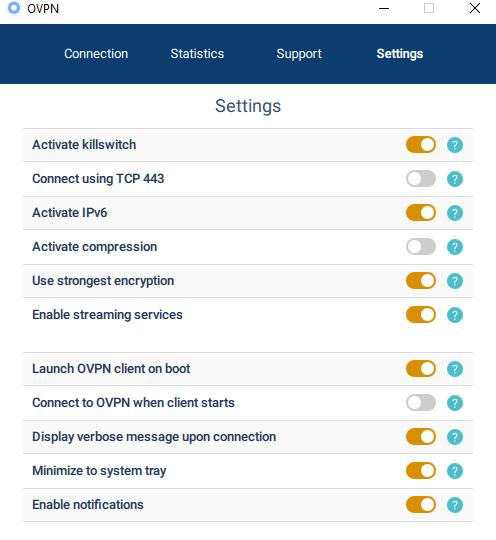 OVPN security settings