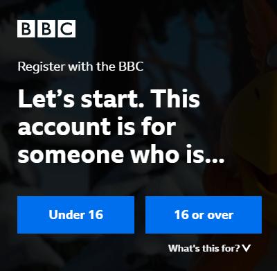 BBC iPlayer account creation step 3