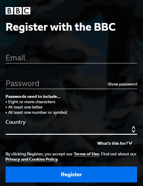 BBC iPlayer account creation step 5