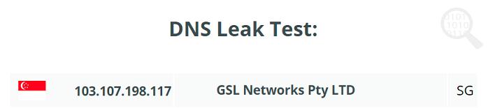 DNS leak test Singapore server VeePN