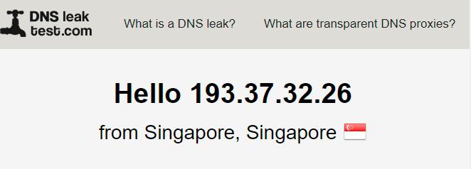 DNS leak test