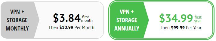 IPVanish prices + Storage account