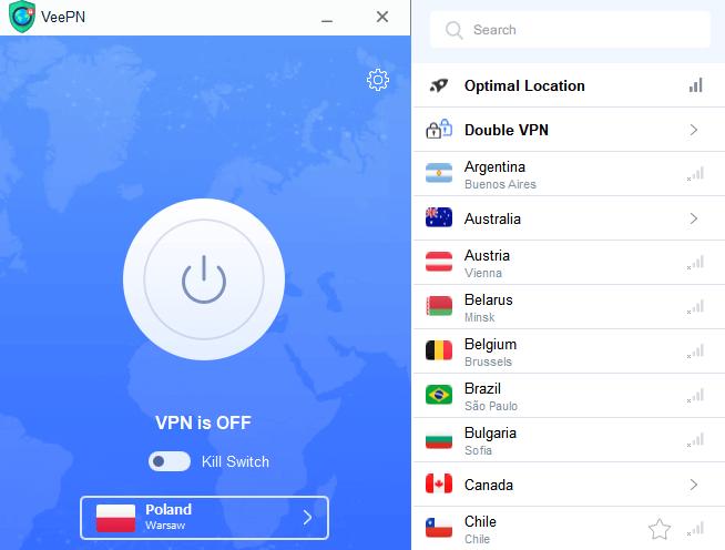 VeePN servers
