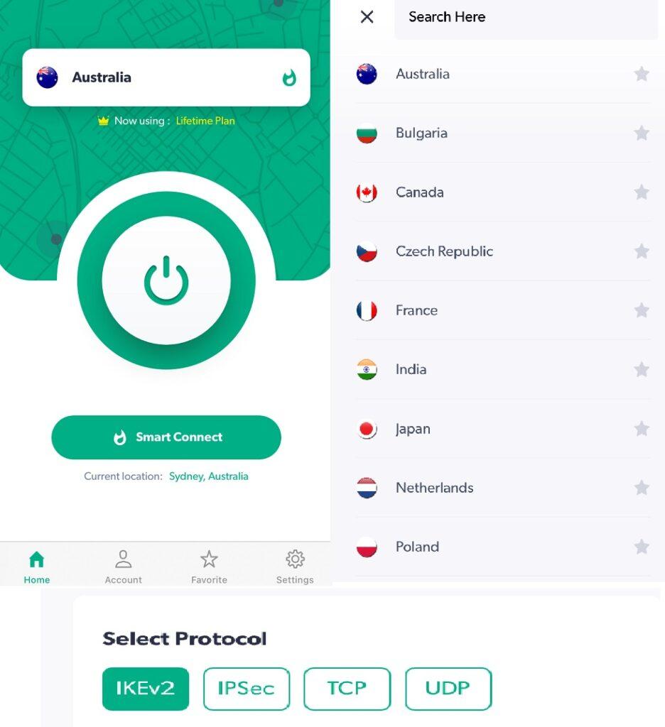 iProVPN iOS app