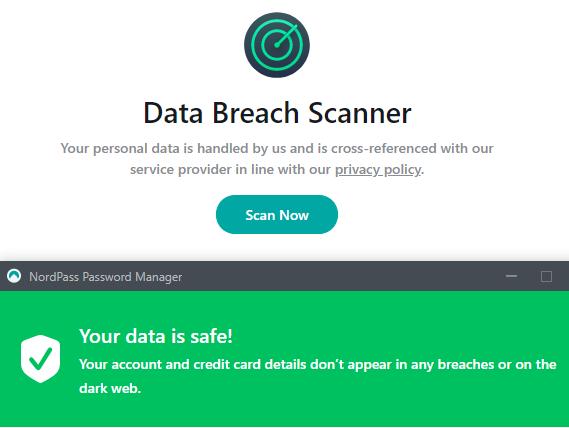 Data breach scanner NordPass