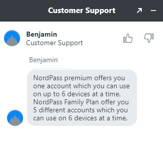 NordPass customer support