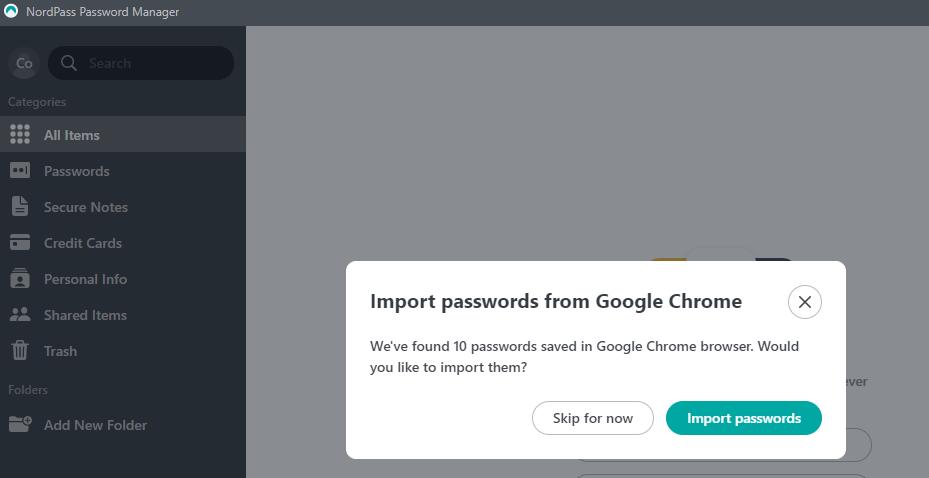 Password importer