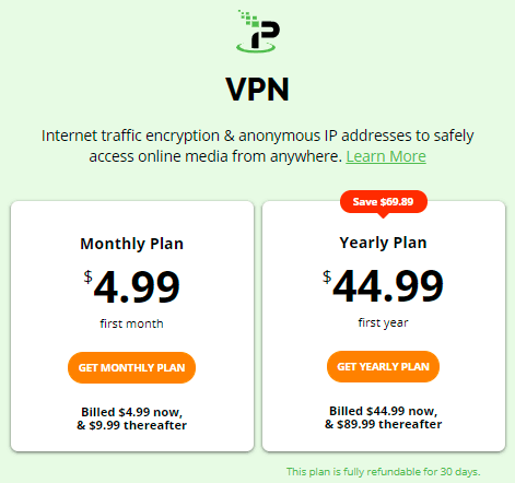 IPVanish regular price