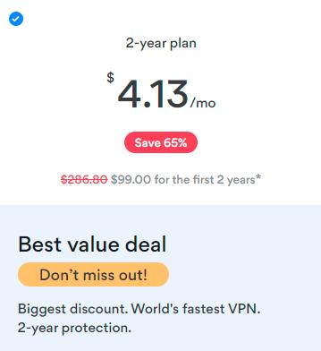 NordVPN cheapest price