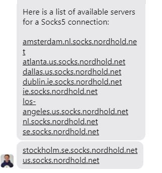 NordVPN SOCKS5 servers