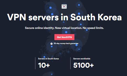 NordVPN servers in South Korea